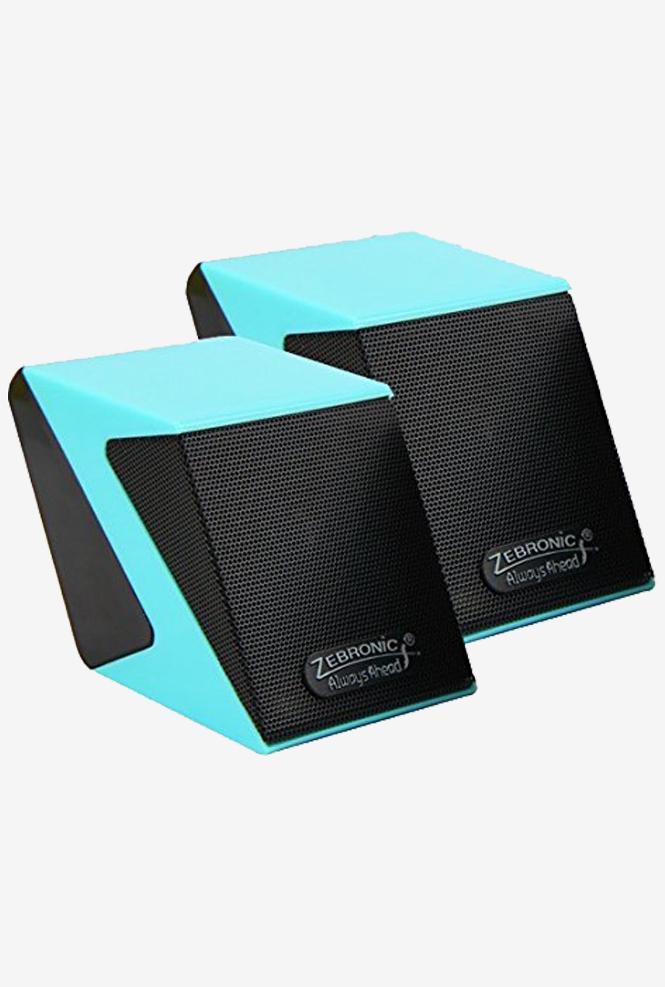 Zebronics Cubic 2.0 Channel Multimedia Speakers (Blue)