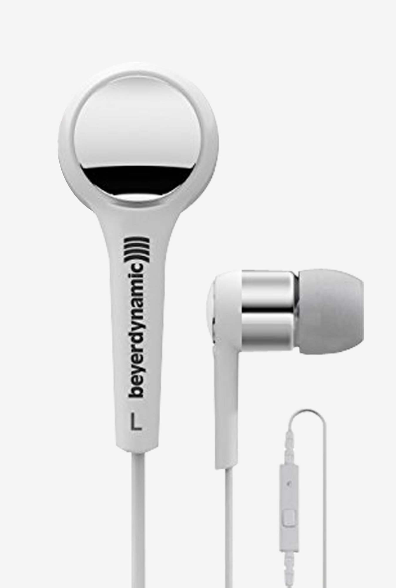 Beyerdynamic MMX 102 iE In the Ear Headphones (White/Silver)