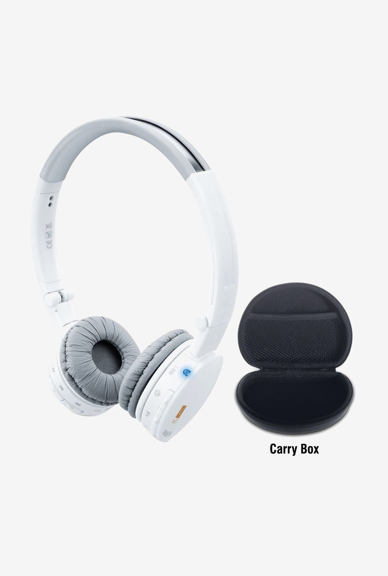 Iball Serene B4 Micro SD Headset On the Ear Headphone(White)
