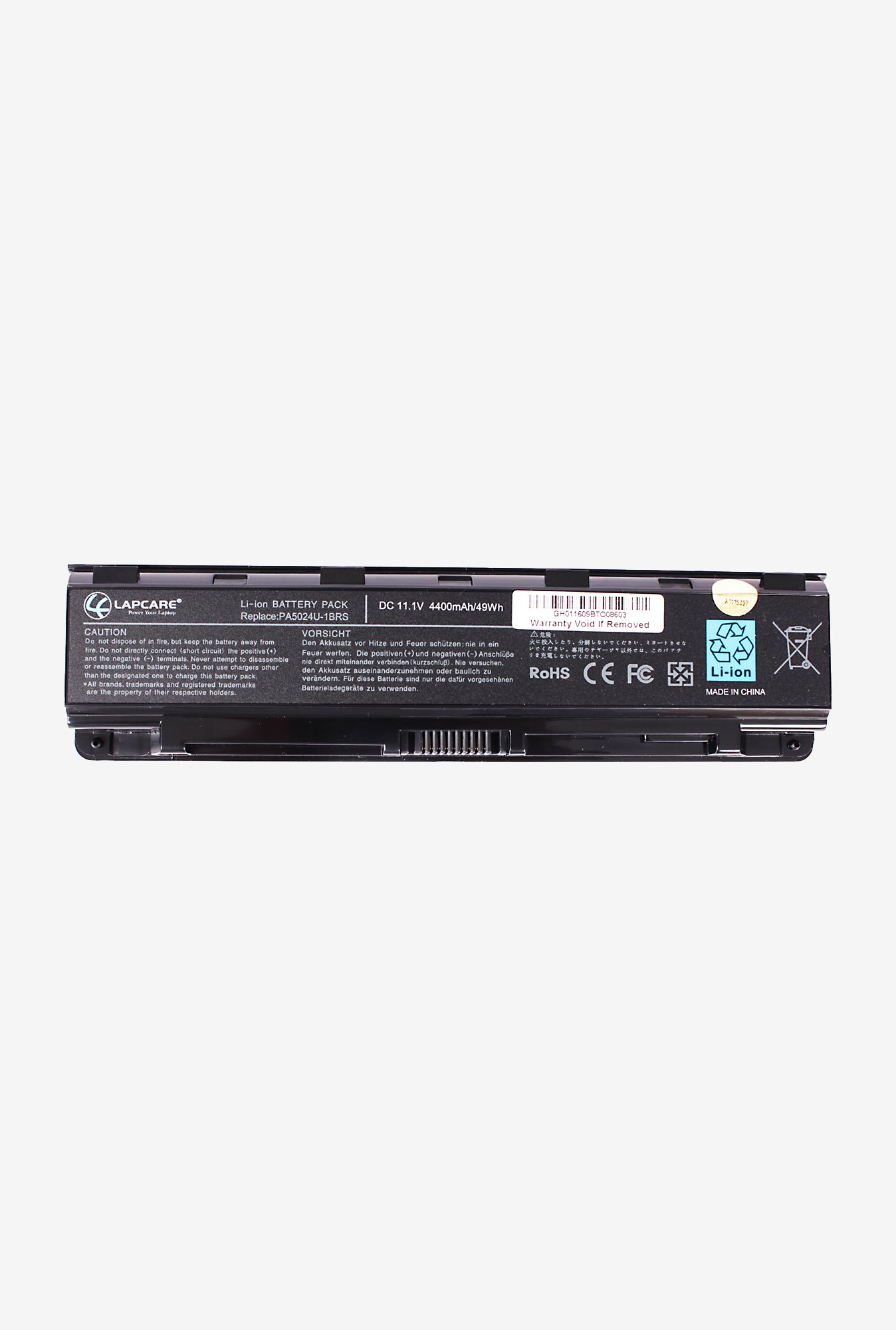 Lapcare PA5024U 4400mAh 6 Cell Laptop Battery (Black)