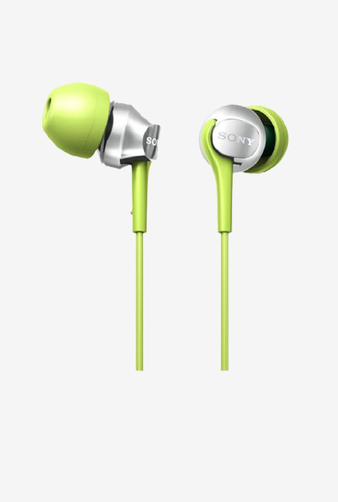 Sony  MDR-EX100LP(G) Bass Earbuds (Green)