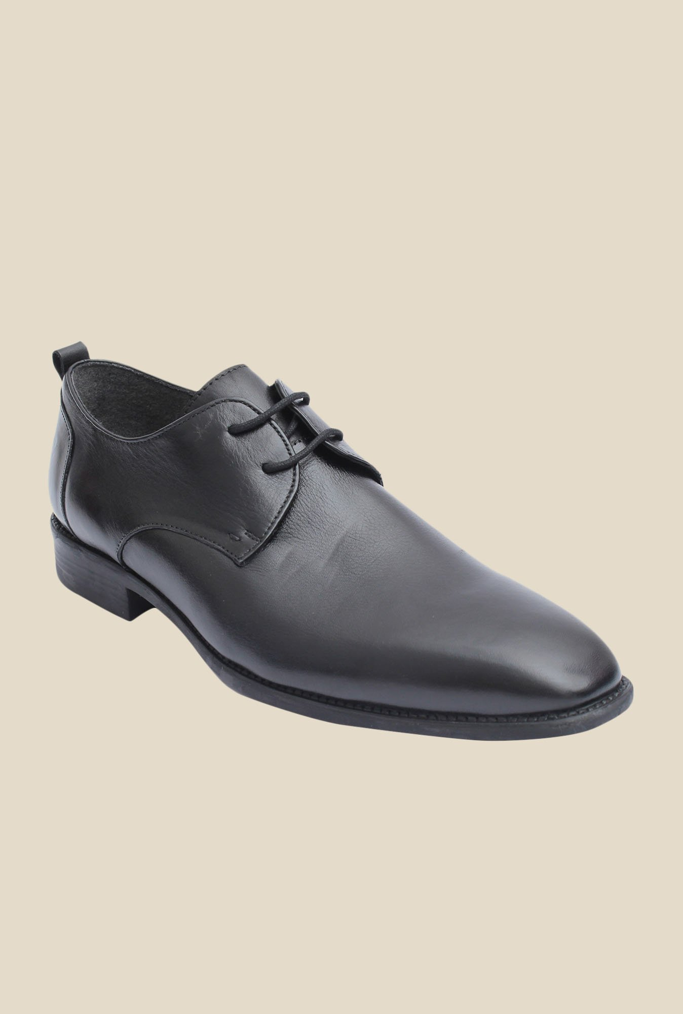 Salt 'n' Pepper Figo Black Derby Shoes