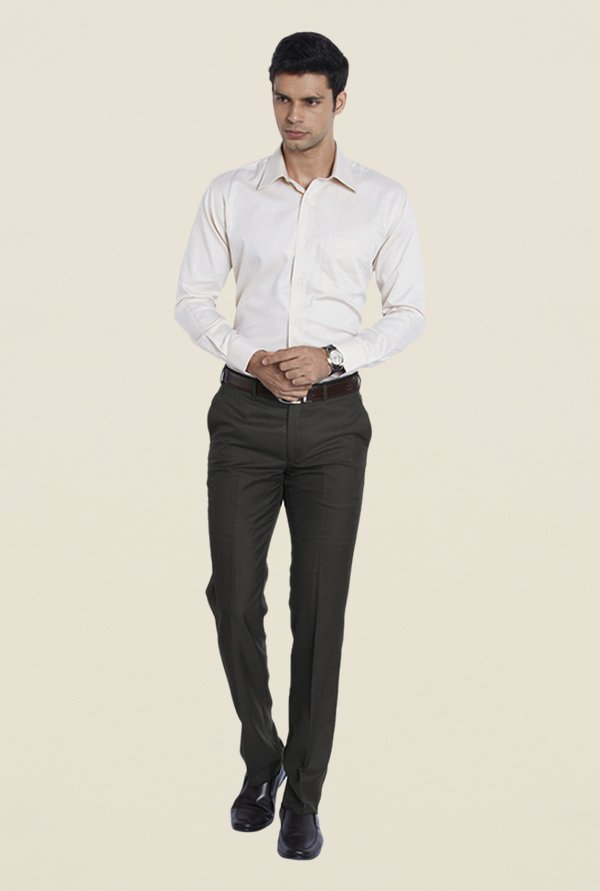 Raymond Brown Flat Front Trouser