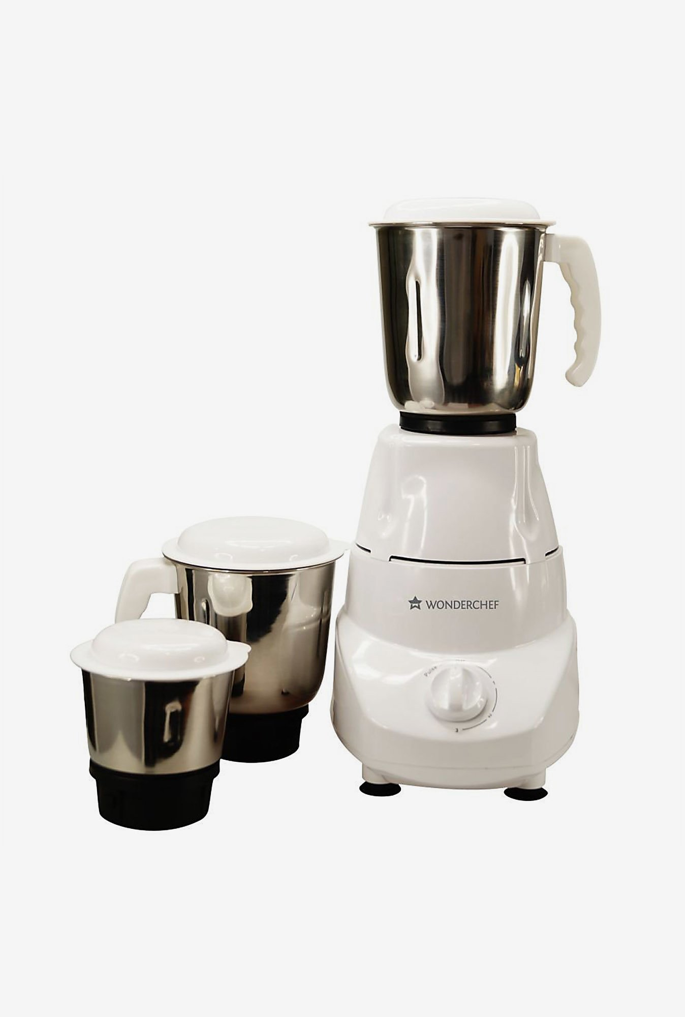 Wonderchef Prato 500 W 3 Jar Mixer Grinder ( White)