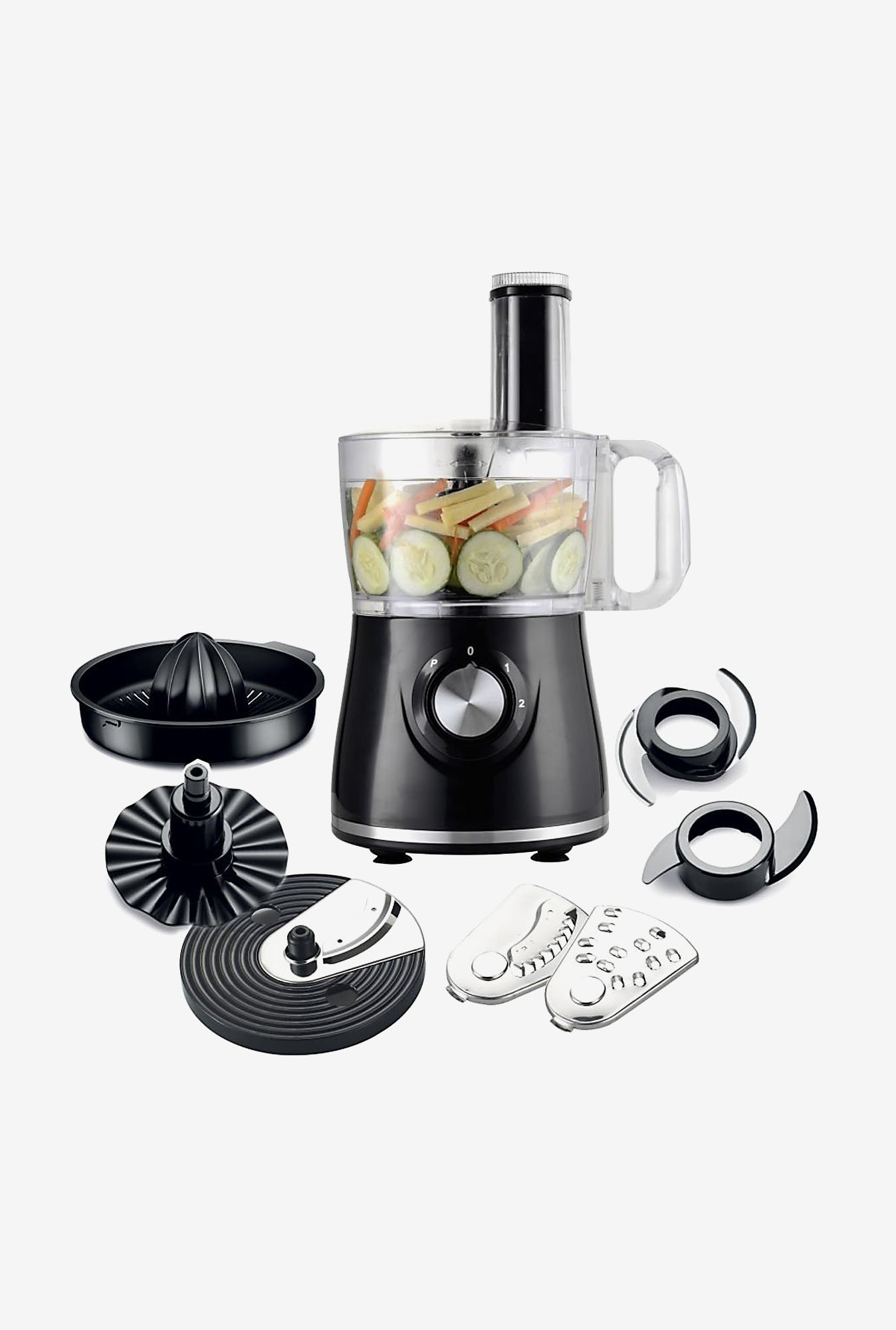 Wonderchef Prato 7 In 1 1.2 L 500 W Food Processor (Black)
