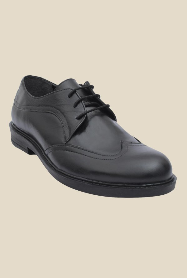 Salt 'n' Pepper Antartic Black Derby Shoes