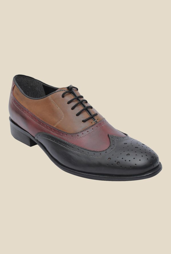 Salt 'n' Pepper Rafael Wine & Black Oxford Shoes