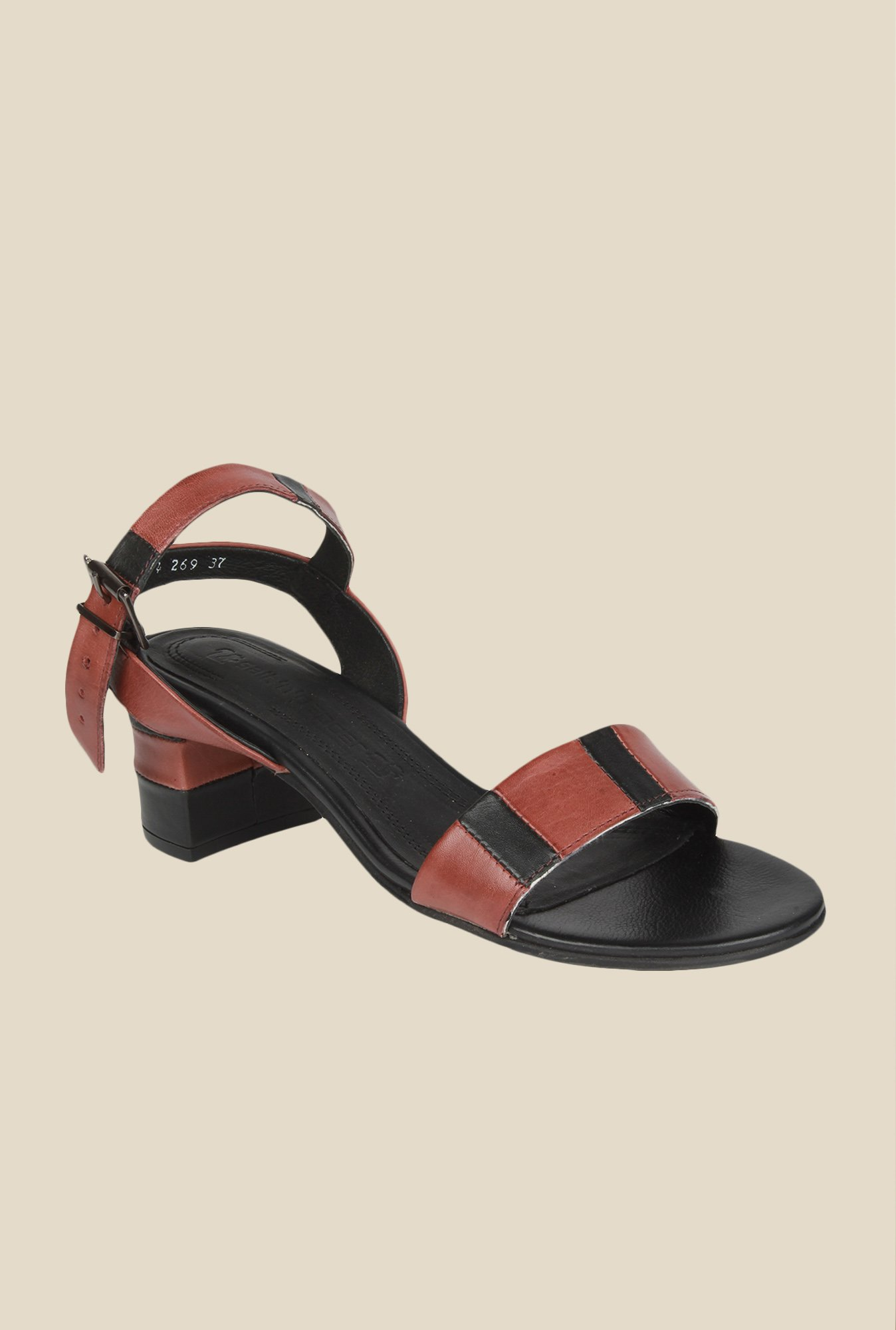 Salt 'n' Pepper Wendy Wine & Black Ankle Strap Sandals