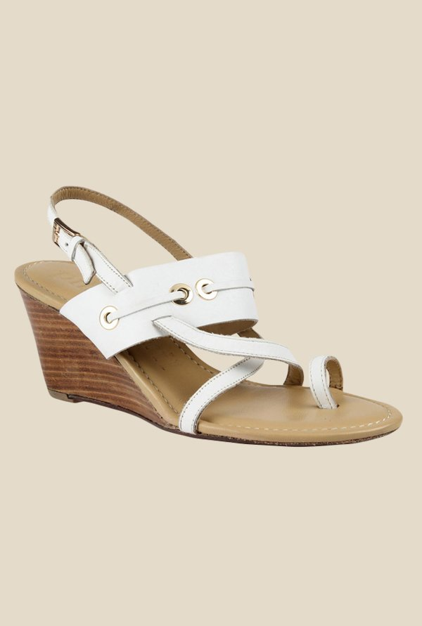 Salt 'n' Pepper Pilar White Back Strap Sandals