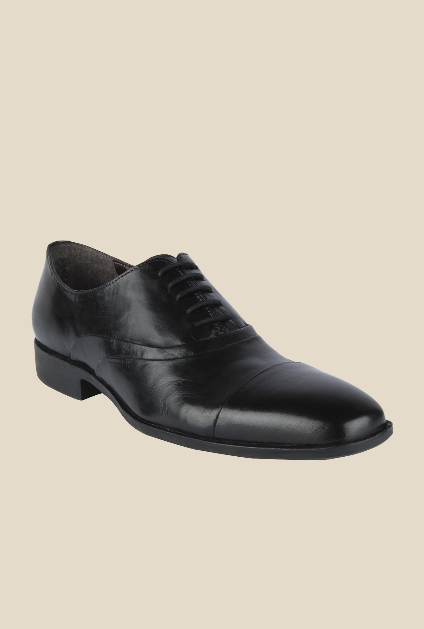 Salt 'n' Pepper Parker Black Oxford Shoes