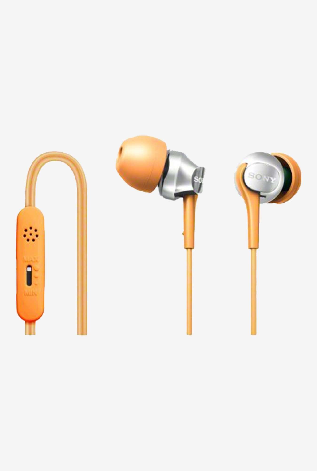 SONY DR-EX102VP-D In the Ear Headphones (Orange)