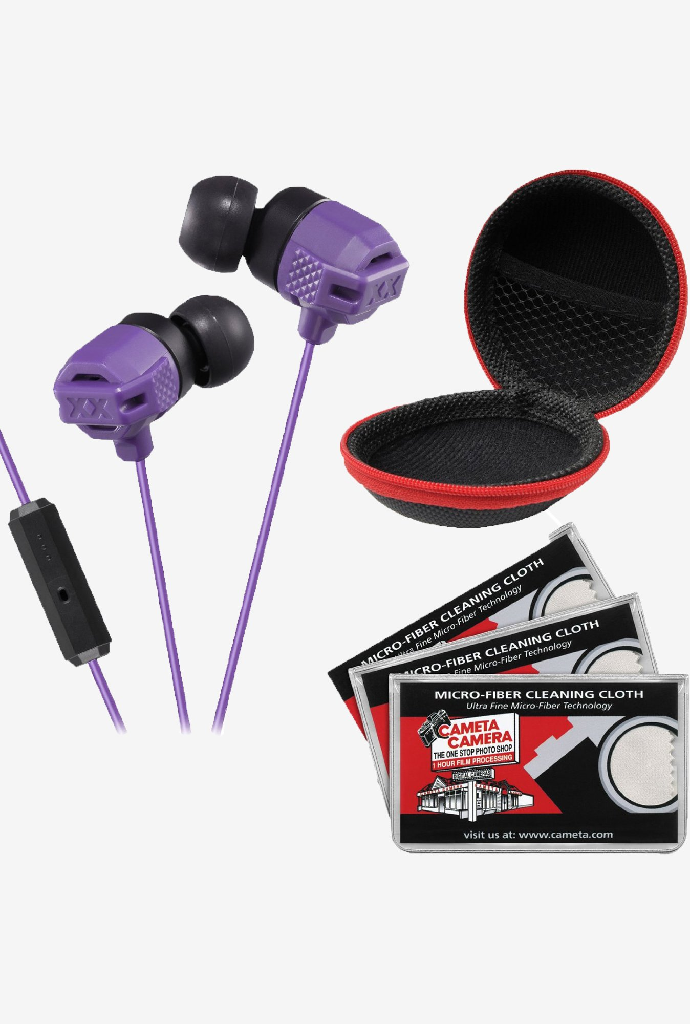 JVC HA-FR202 In the Ear Headphones with Remote (Purple)