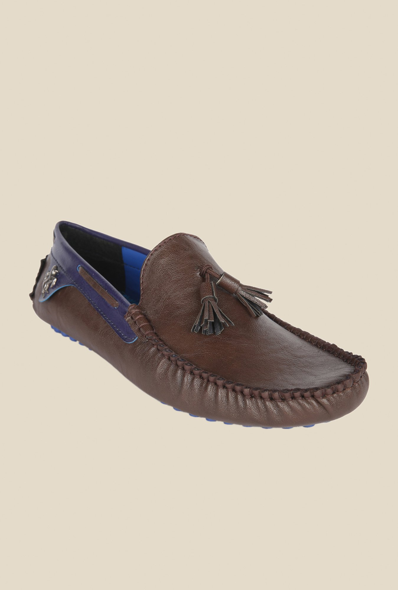 Wega Life Grast Brown & Blue Loafers