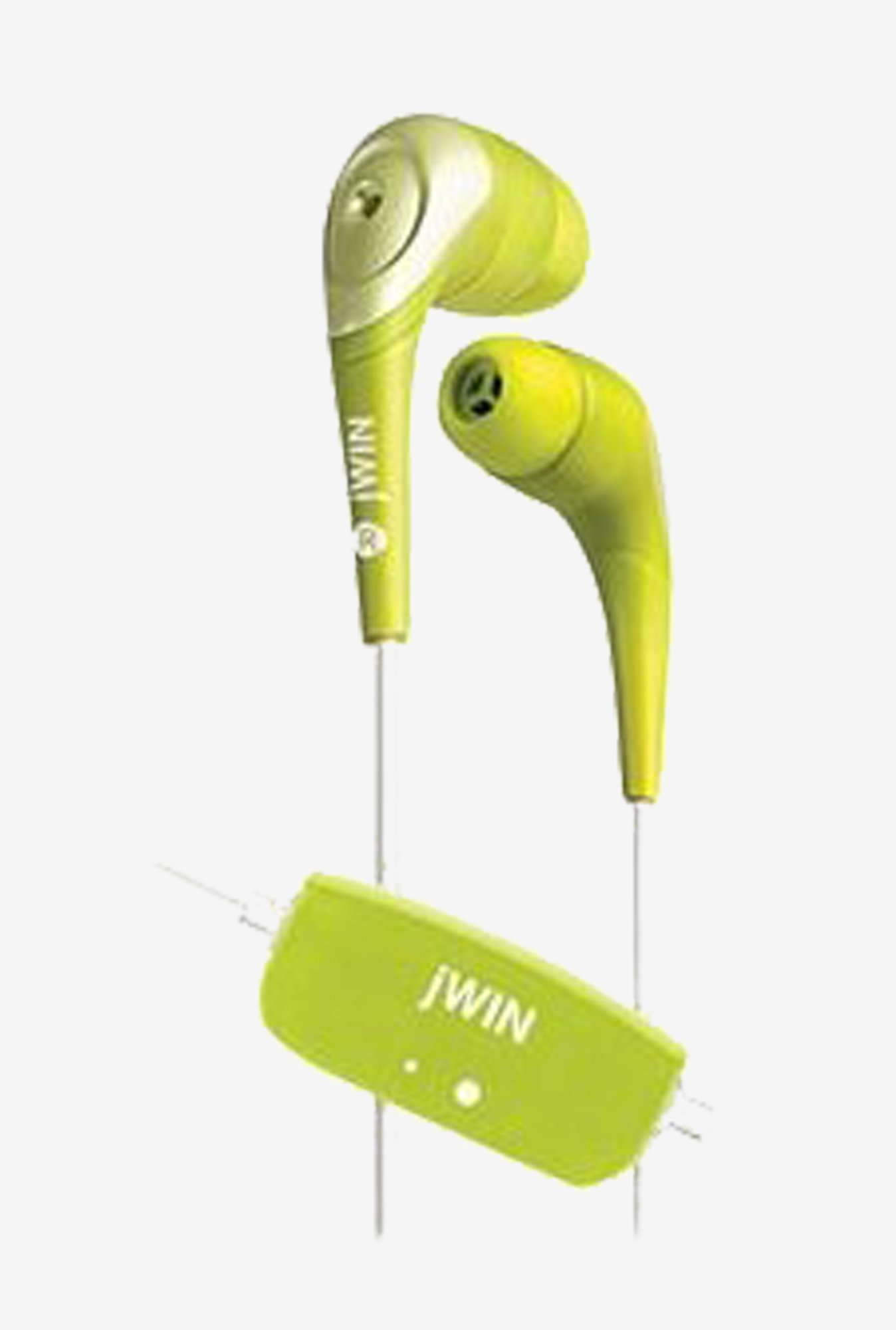 Jwin JHE22GRN Stereo In the Ear Earphones (Green)
