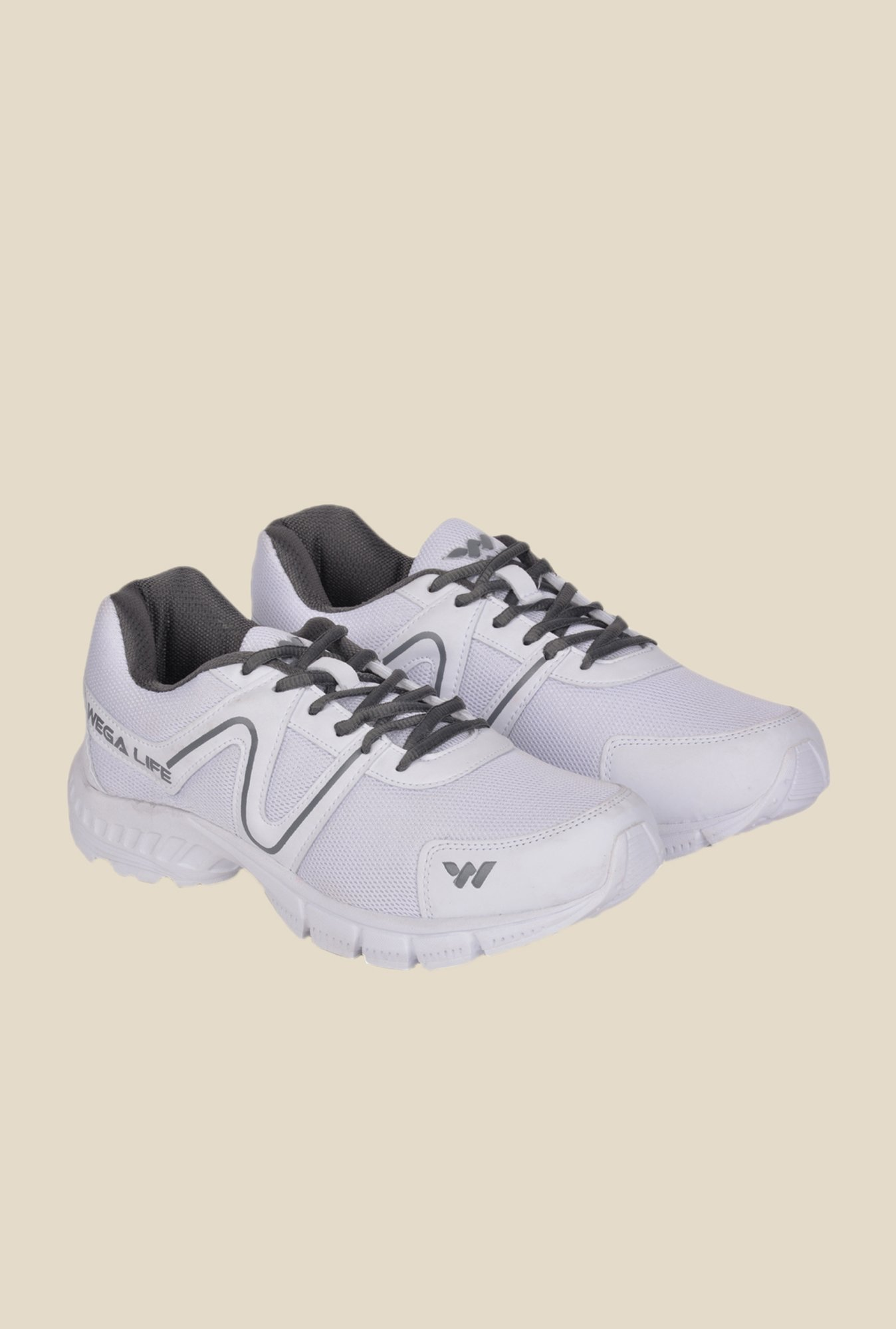 Wega Life Air White & Grey Running Shoes