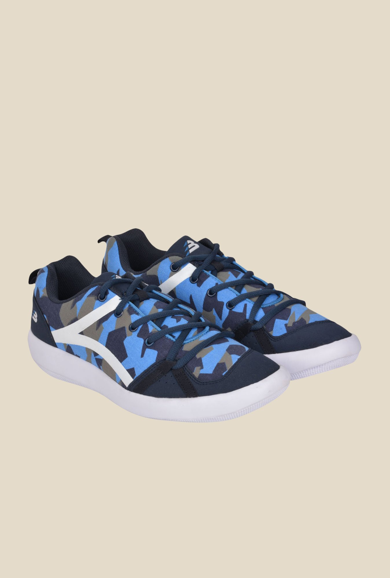 Lotus Bawa Navy Blue & White Running Shoes