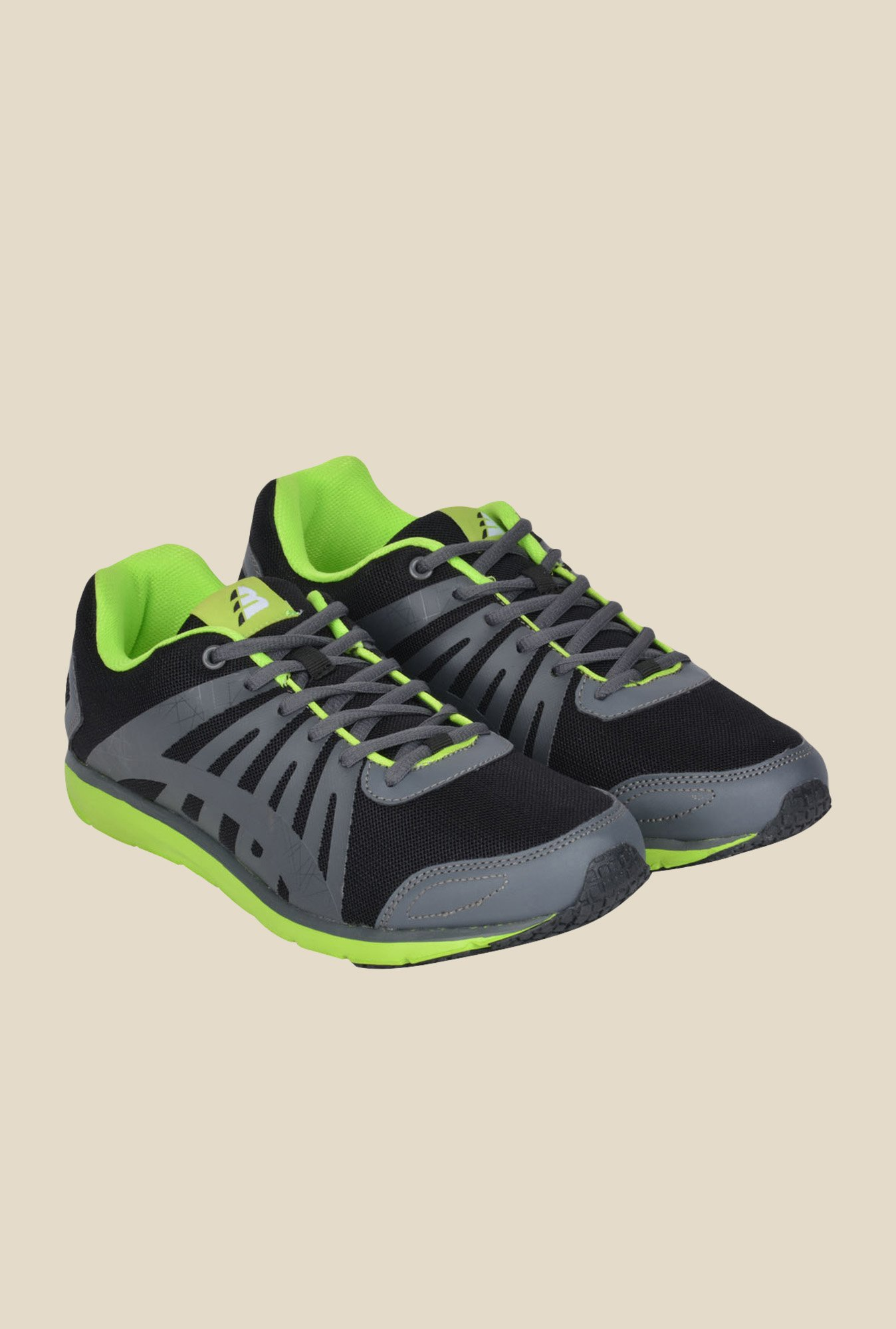 Lotus Bawa Black & Grey Running Shoes