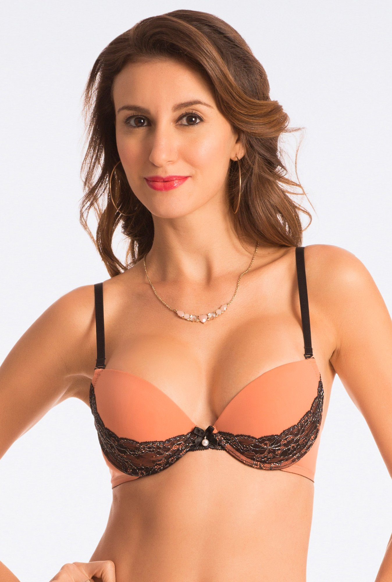 Pretty Secrets Dazzle Darling Extreme Lift Brown Push Up Bra
