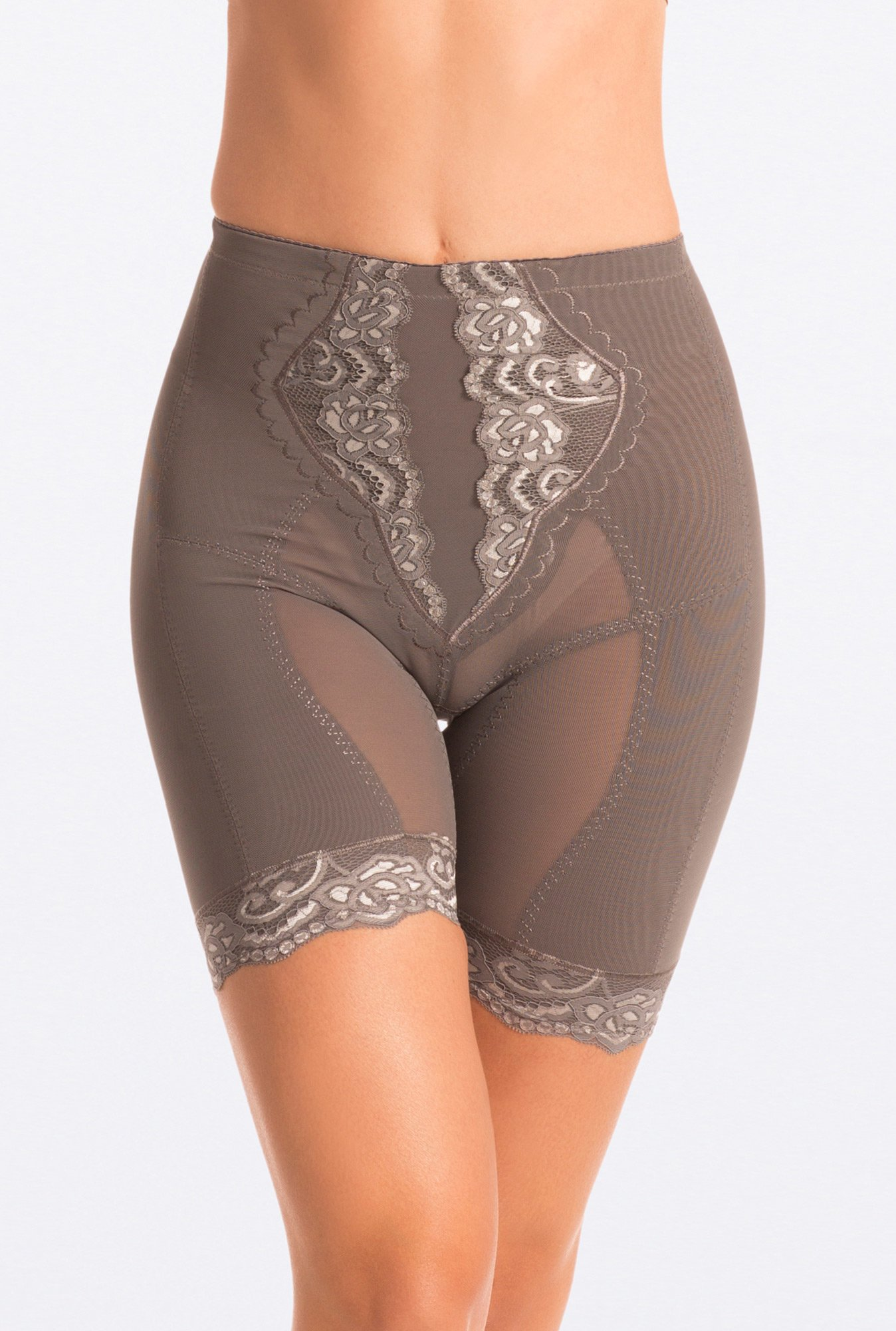 Pretty Secrets Grey Lace Super Slimming Hip & Thigh Shaper