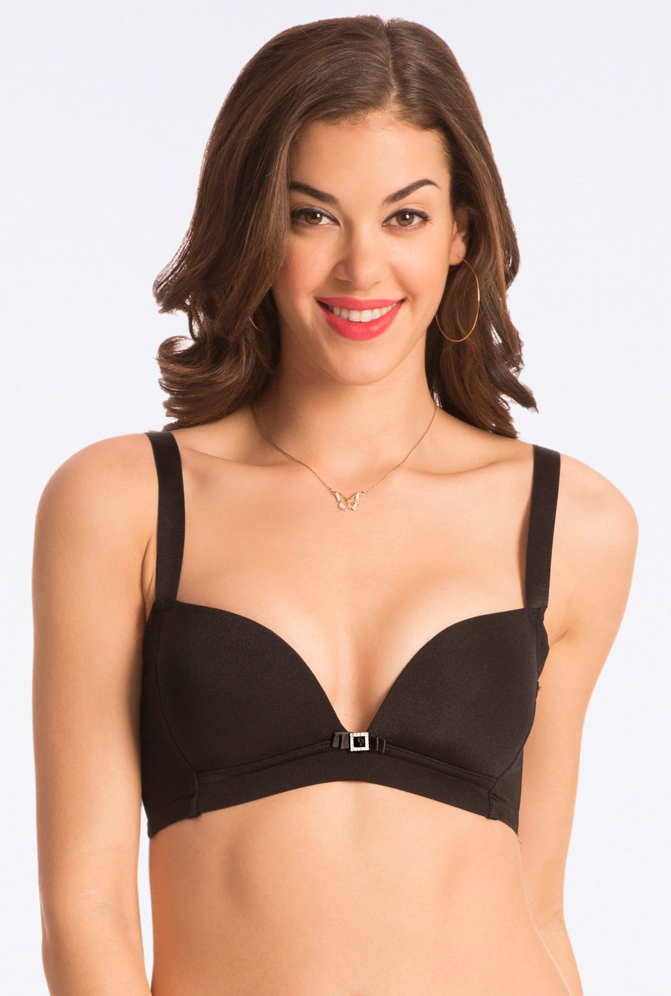 Pretty Secrets Slim Sexy Black Beauty Wirefree Plunge Bra