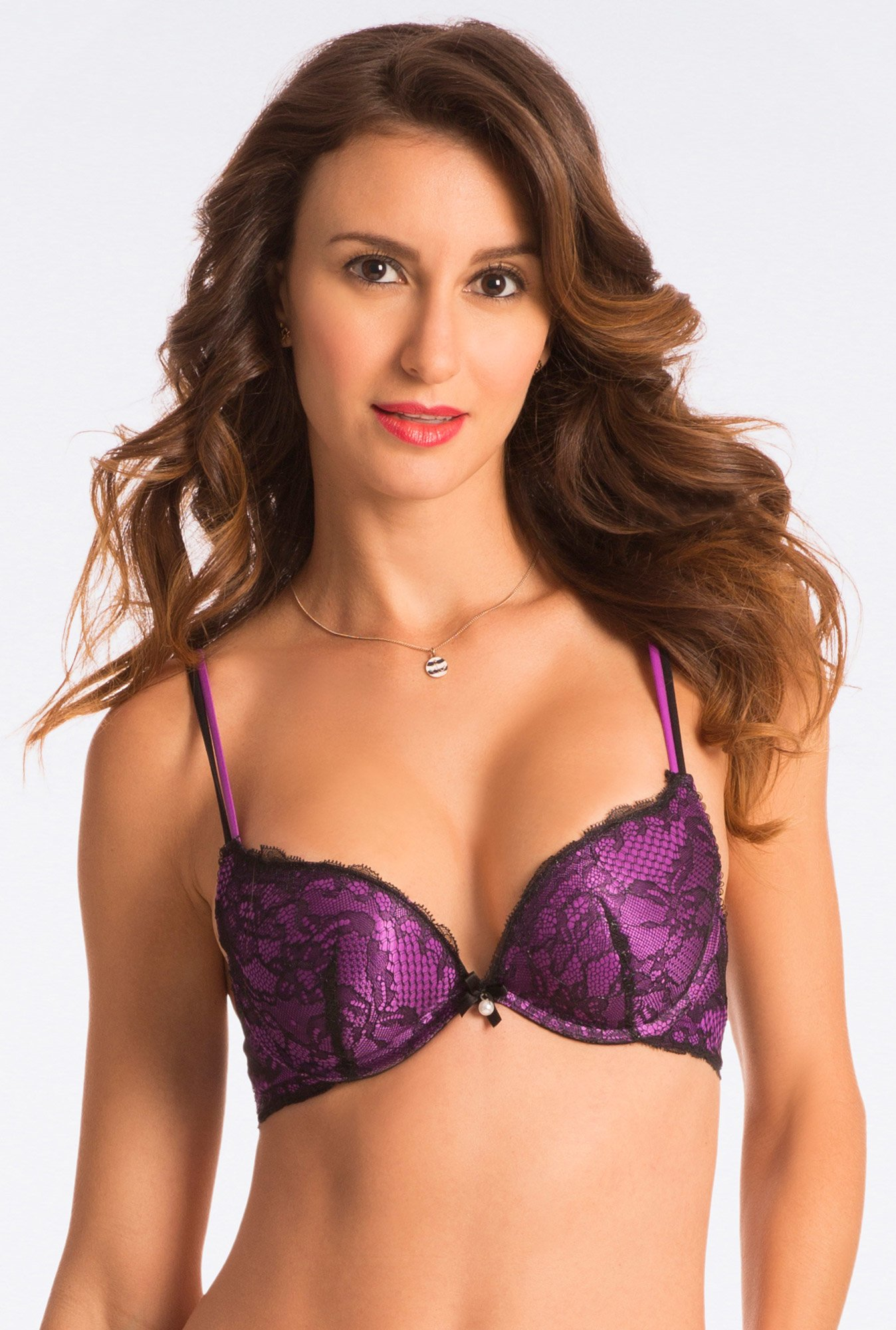 Pretty Secrets Scandalous Radiant Purple Plunge Push Up Bra