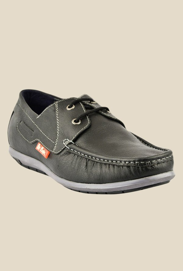 Lee Cooper Black Boat Shoes
