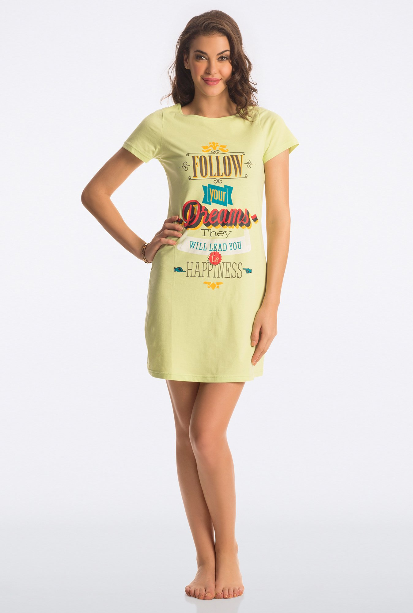 PrettySecrets Sweet Lime Graphic Print Sleepshirt