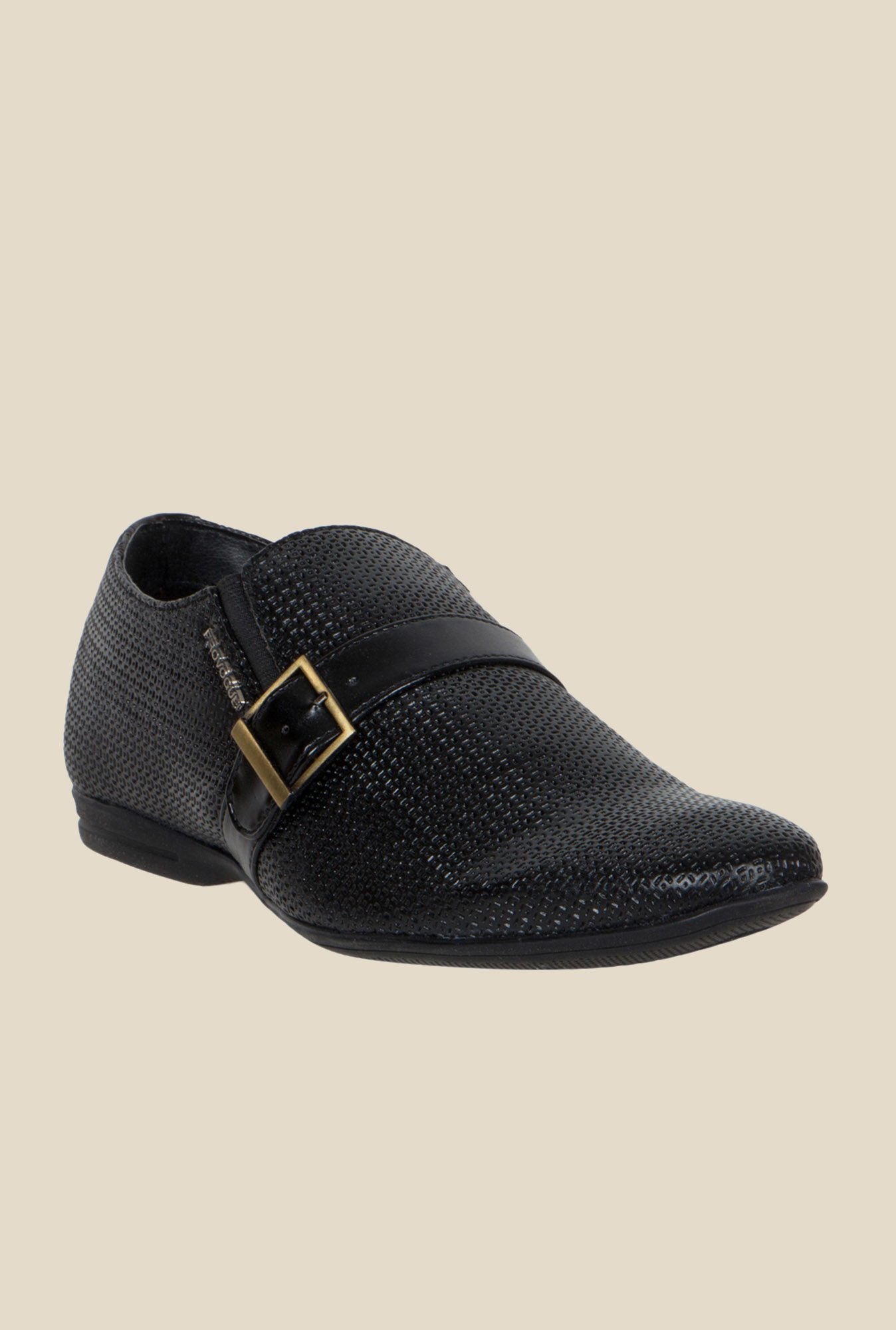 Provogue Black Monk Shoes