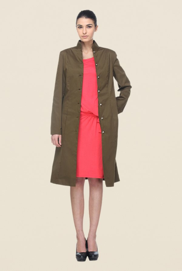 Kaaryah Brown Solid Coat