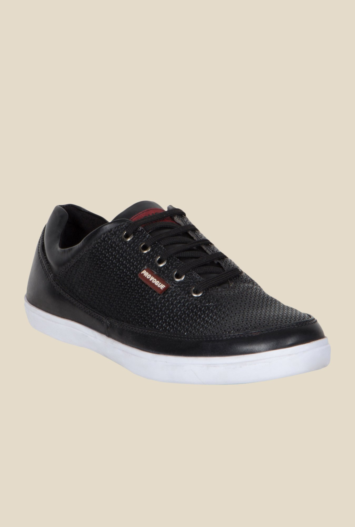 Provogue Black & White Plimsolls