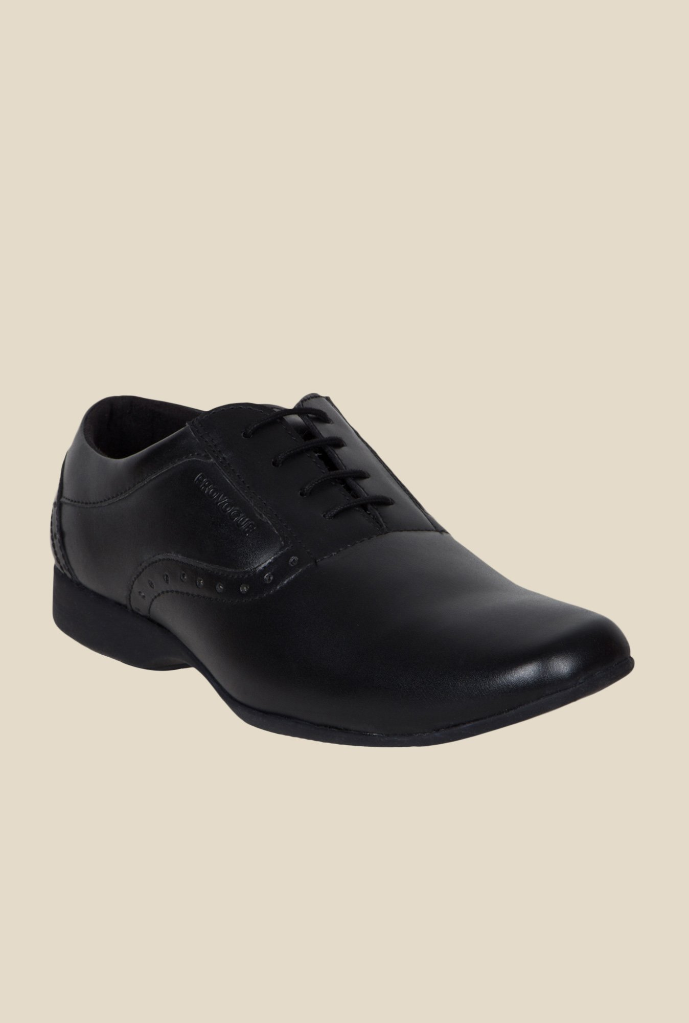 Provogue Black Oxford Shoes