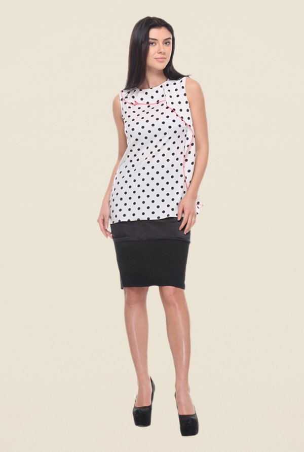 Kaaryah White Polka Dot Top
