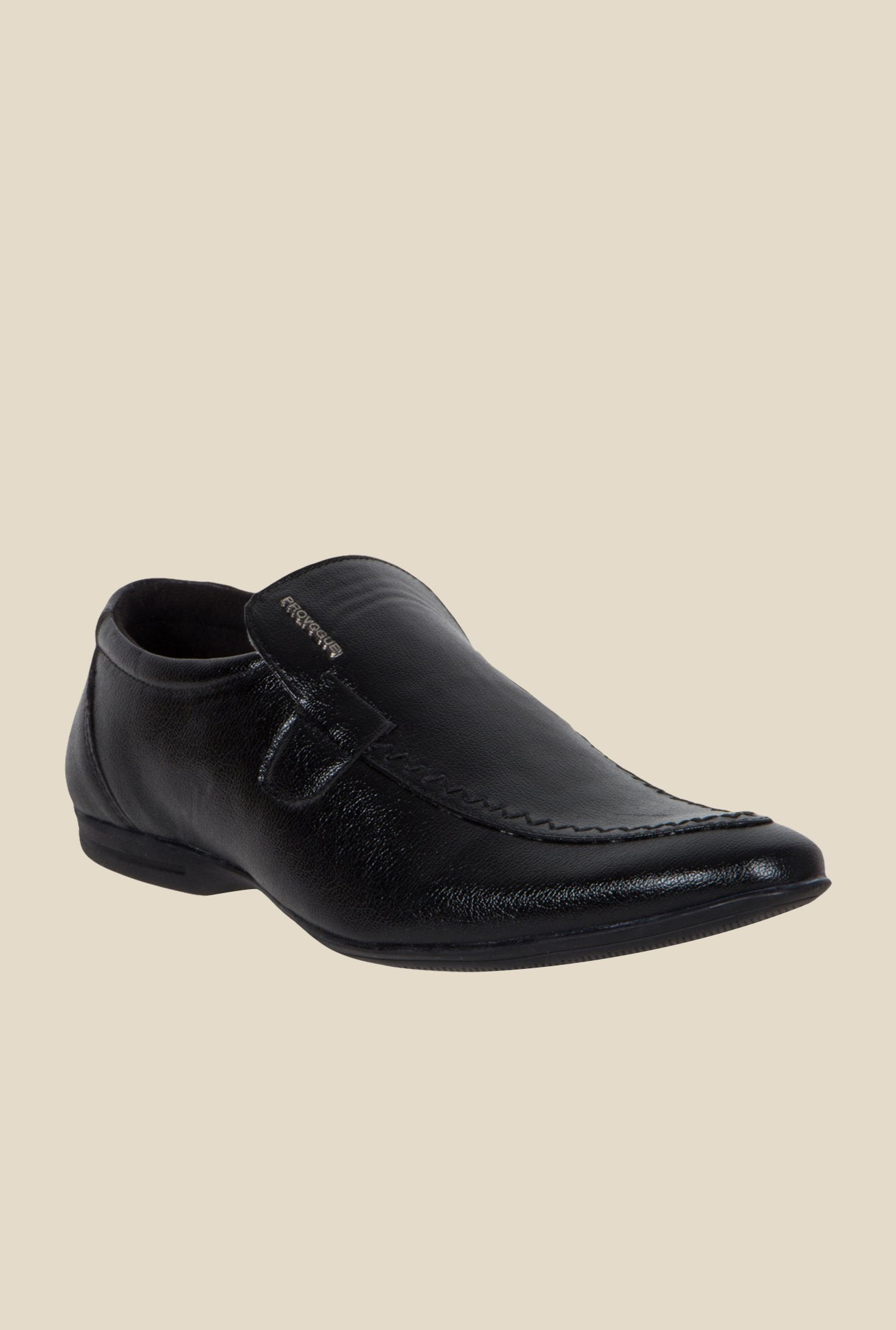 Provogue Black Formal Slip-Ons