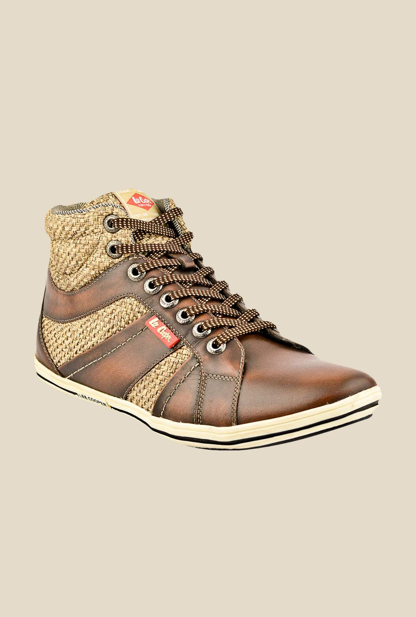 Lee Cooper Brown & Beige Casual Boots