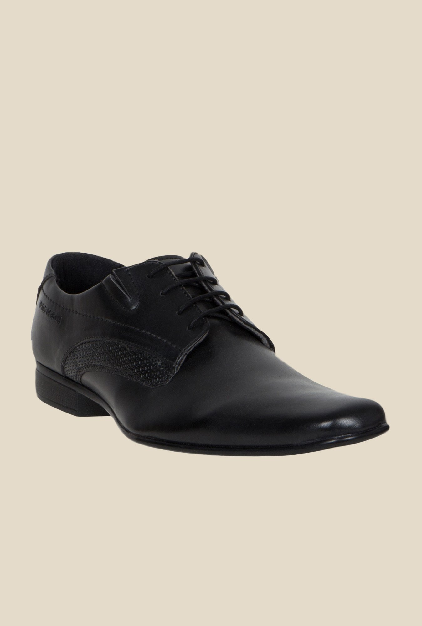 Provogue Black Derby Shoes