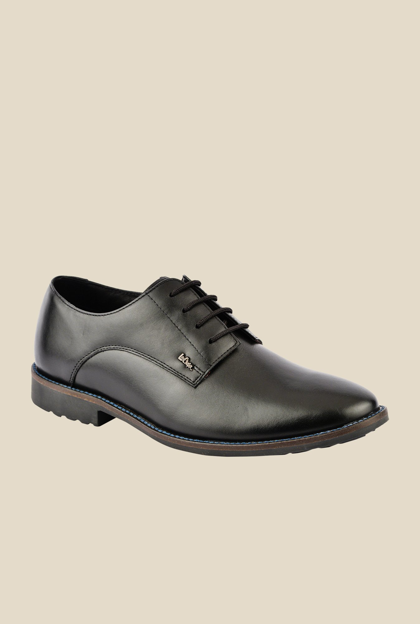 Lee Cooper Black Derby Shoes
