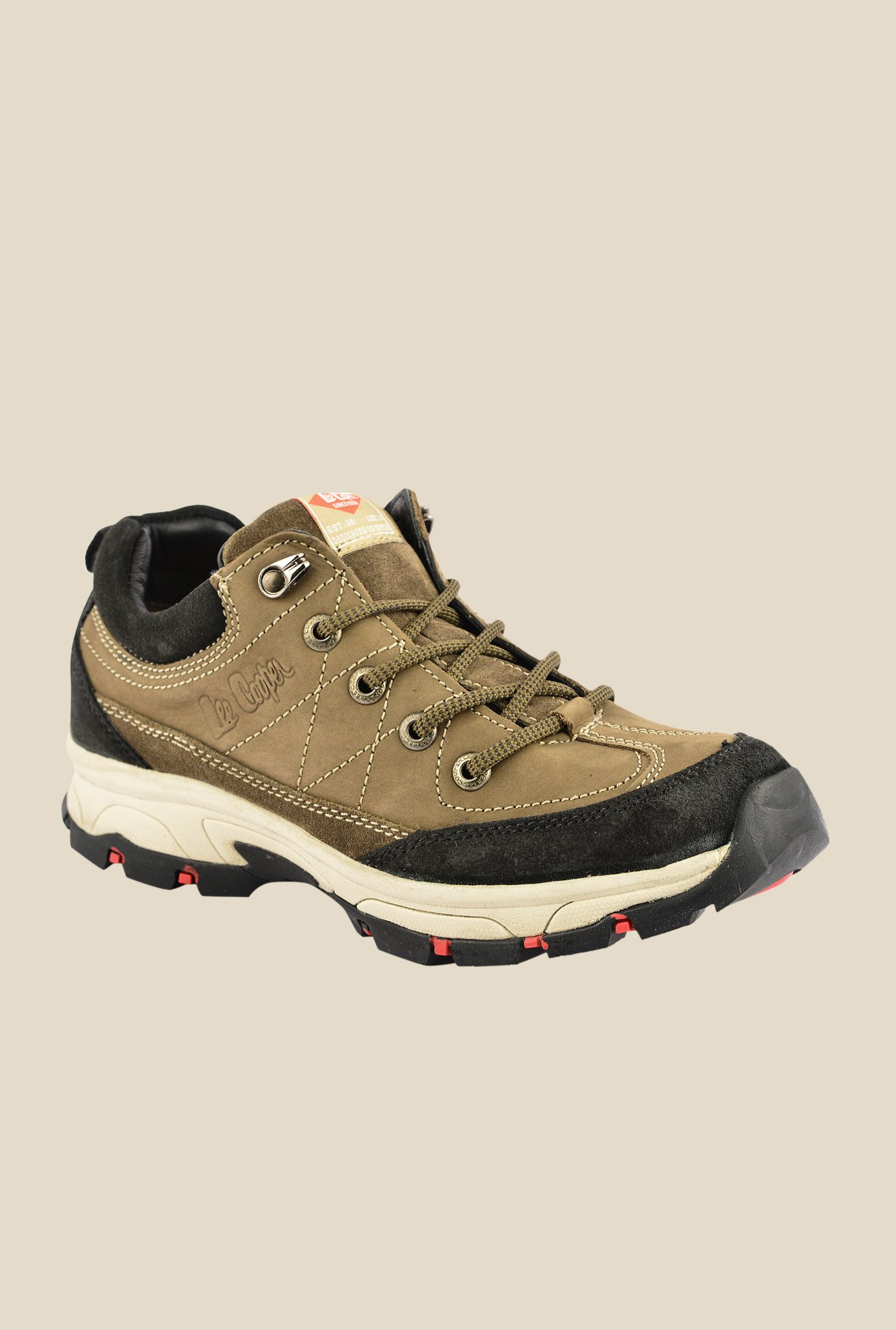 Lee Cooper Khaki & Black Casual Shoes