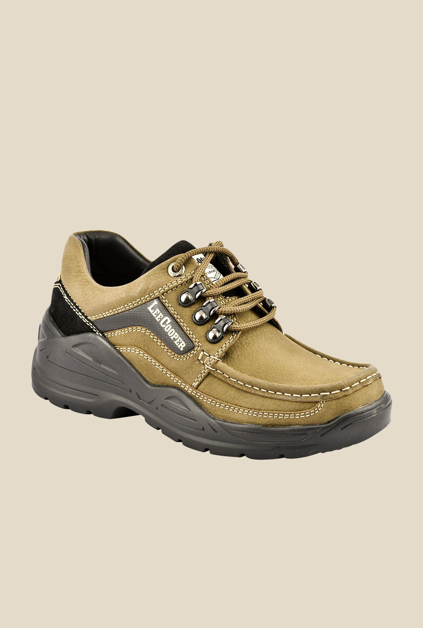 Lee Cooper Olive Casual Shoes