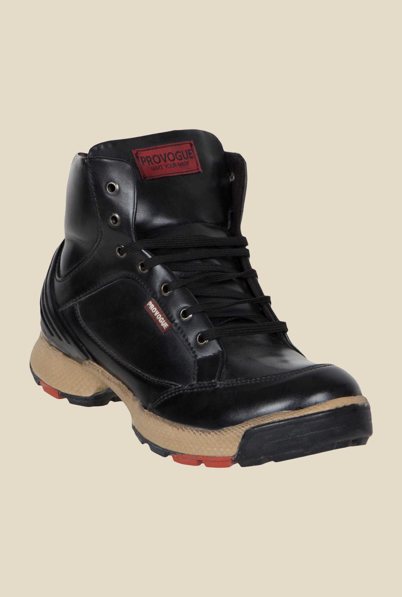 Provogue Black Biker Boots
