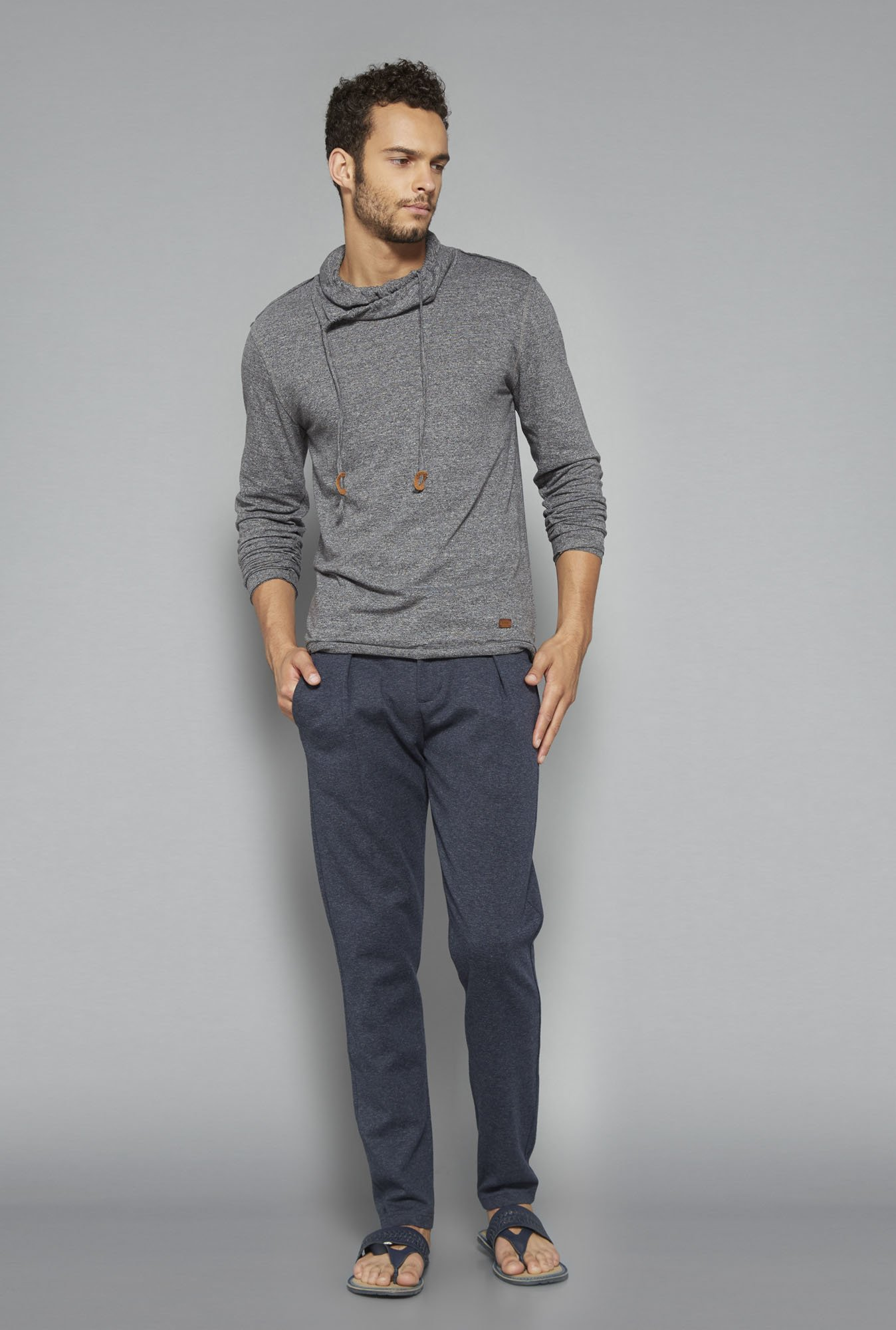ETA by Westside Navy Textured Chinos