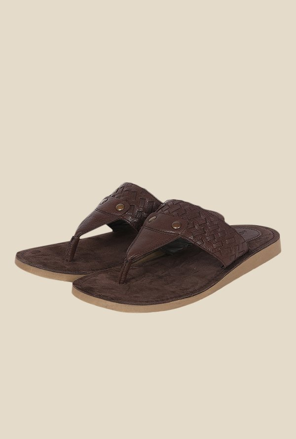 Toni Rossi Coffee Brown T-Strap Sandals