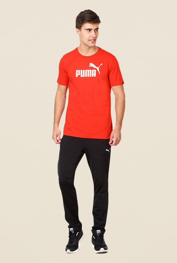 Puma Red Graphic Printed T-shirt