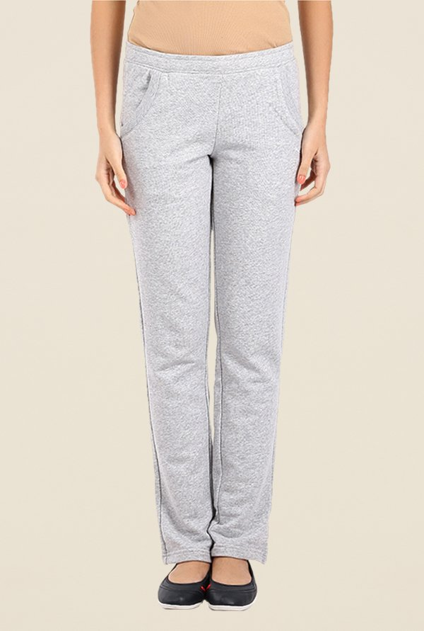 Puma Light Grey Solid Trackpants