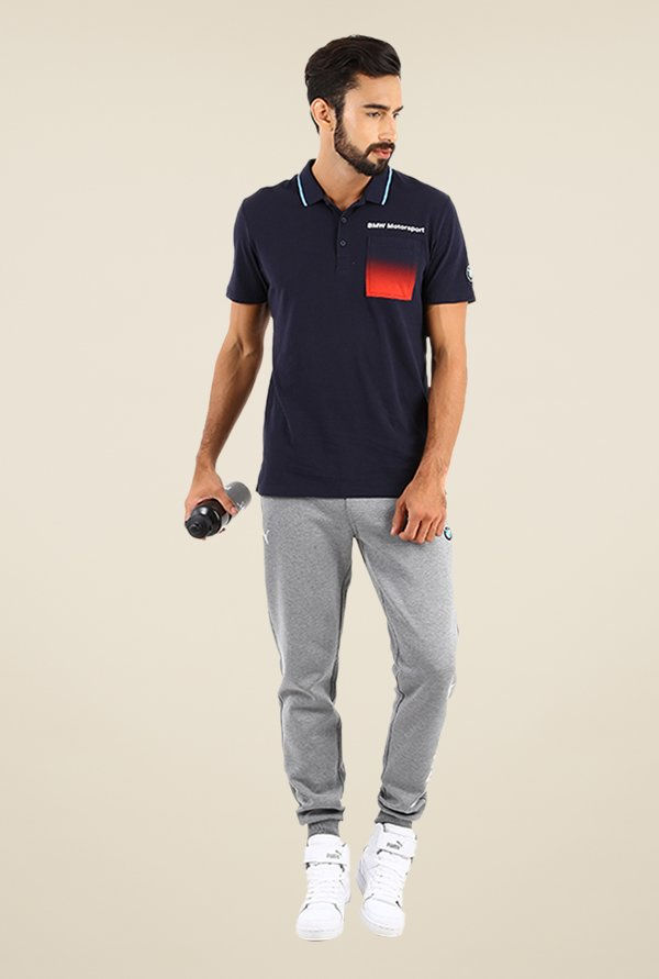 Puma BMW MSP Logo Navy Solid T-shirt