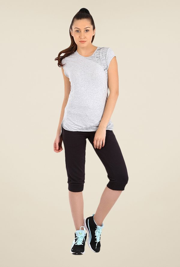 Puma Light Grey Solid Tee