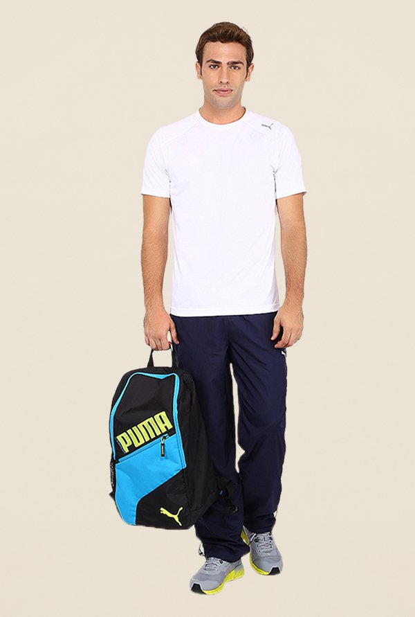 Puma Navy Solid Trackpants