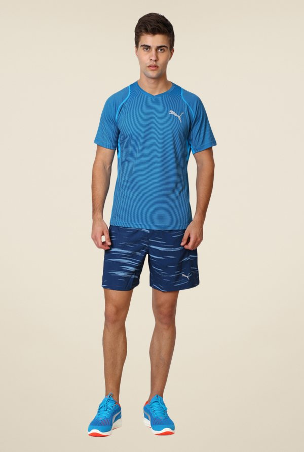 Puma Blue Striped T-shirt
