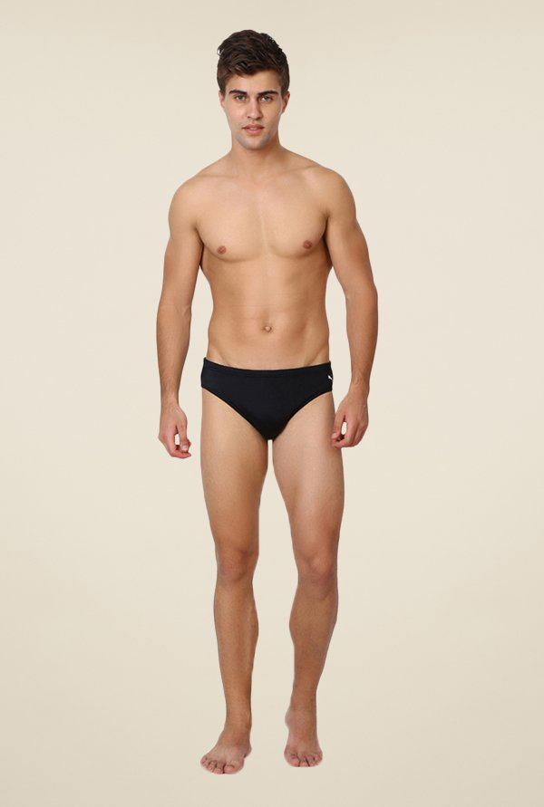Puma Black Solid Briefs