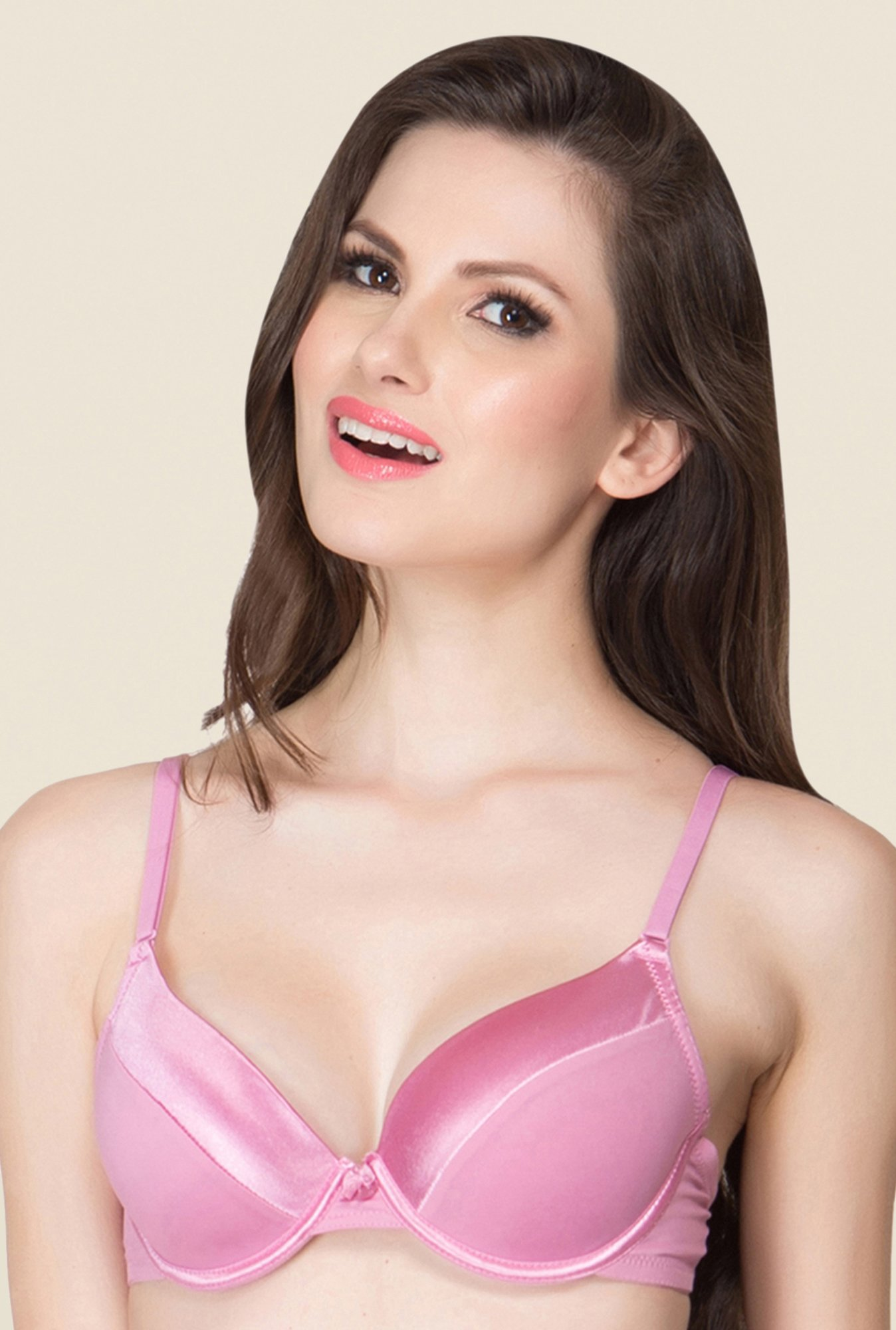 Clovia Pink Padded Underwired T Shirt Bra