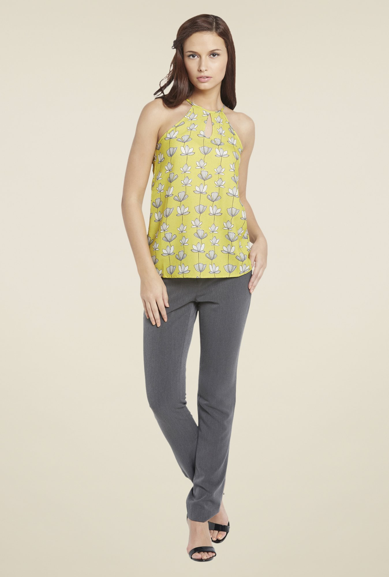 Globus Yellow Floral Print Top